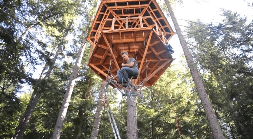 Comment faire un ascenseur pour maison dans un arbre avec un simple v lo - Construire son ascenseur ...