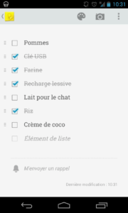liste de course avec google keep cloud sans papier greenit
