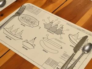plan bananasplit dessous de table plateau assiette montage explication