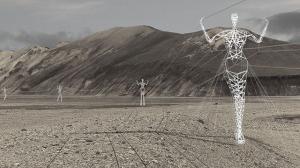 Pylones Electriques Humain Geants Islande