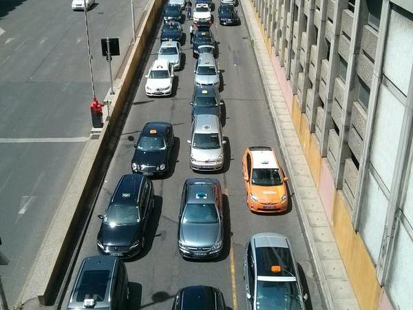 bloquage taxi