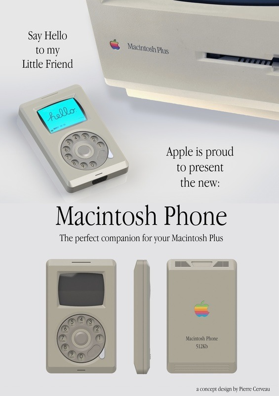 iphone vintage macintosh apple phone pub