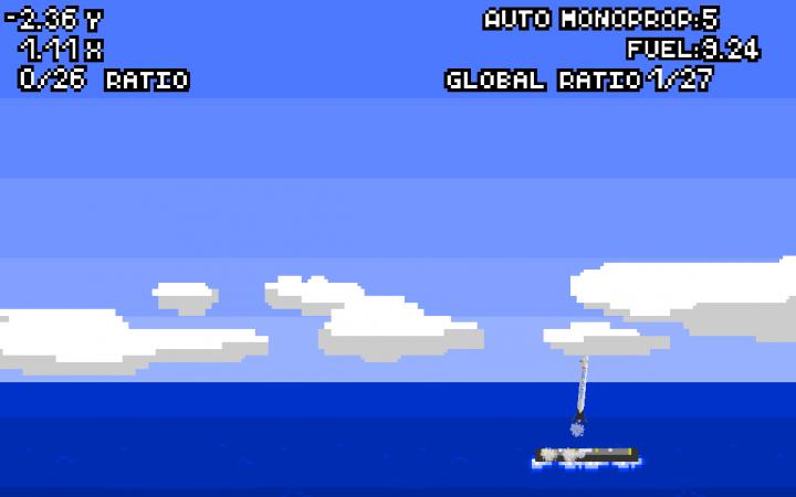 jeu spaceX atterir falcon 9 barge en mer