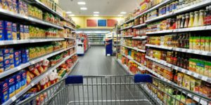 rayon caddie supermarché
