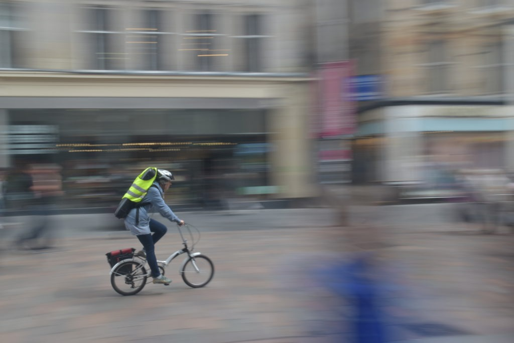 vélo pliable effet de vitesse en ville ecosse