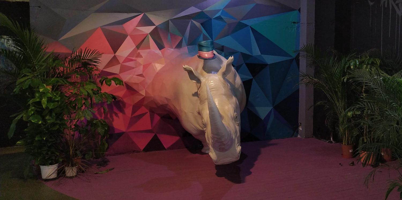 rhinocéros Sudan Zoo Art Show