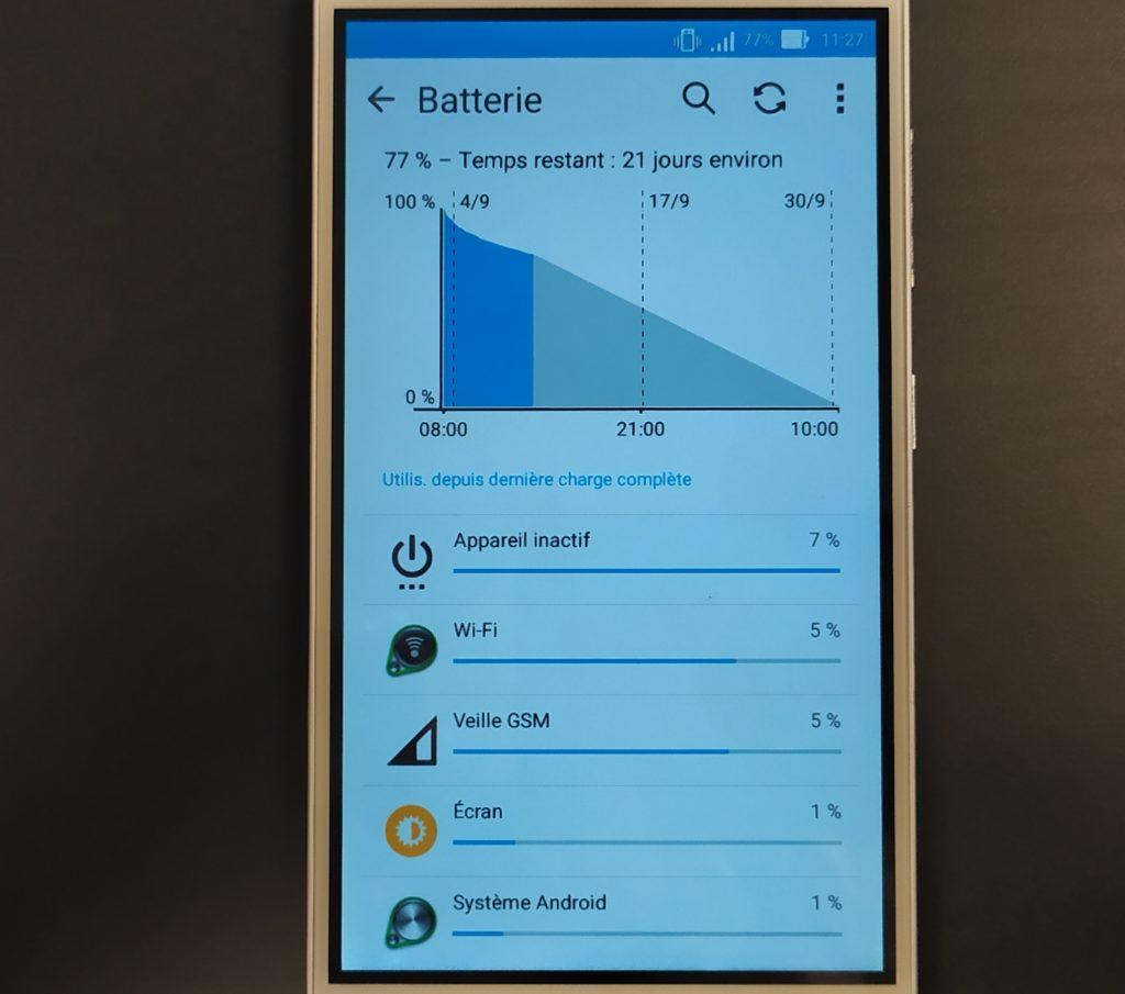 Autonomie smartphone sans internet 21 jours